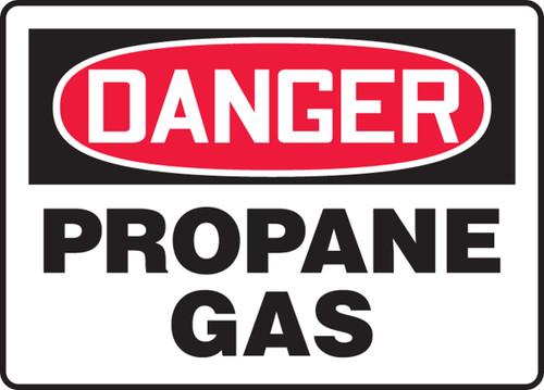 Danger - Propane Gas - Plastic - 10'' X 14''