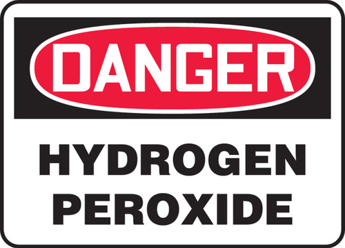 Danger - Hydrogen Peroxide - Accu-Shield - 10'' X 14''
