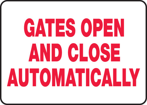 Gates Open And Close Automatically