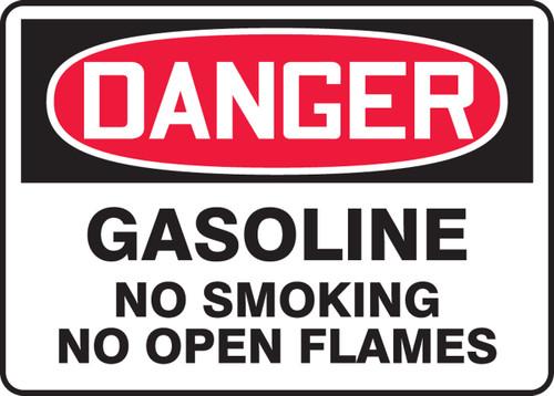 Danger - Gasoline No Smoking No Open Flames