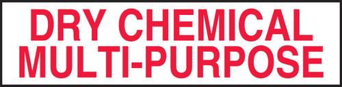 Dry Chemical Multi-purpose Label