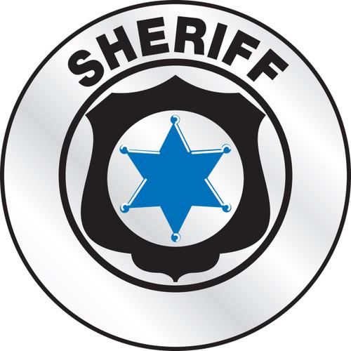 Sheriff Reflective Helmet Sticker