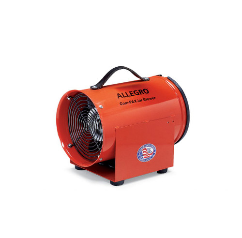 "Allegro 9537 8"" Axial DC Metal Com-PAX-ial Blower, 12V"