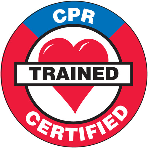 CPR Trained Certified Hard Hat Label