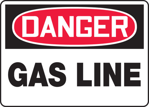 Danger - Gas Line