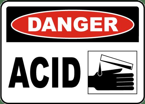 Danger - Acid - Re-Plastic - 10'' X 14''