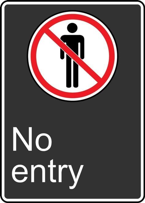No Entry (Acces Interdit) - Adhesive Vinyl - 14'' X 10'' 2