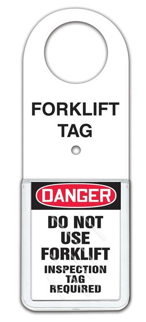 Forklift Tag Status Holder - Danger Do Not Use Forklift Inspection Tag Required