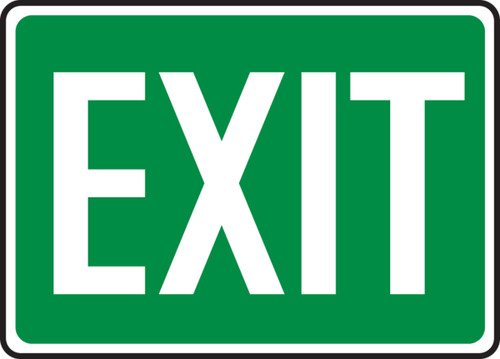 Exit - .040 Aluminum - 7'' X 10'' 1
