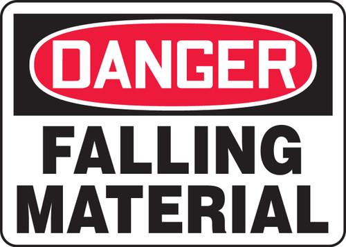 Danger - Falling Material - Adhesive Dura-Vinyl - 7'' X 10''