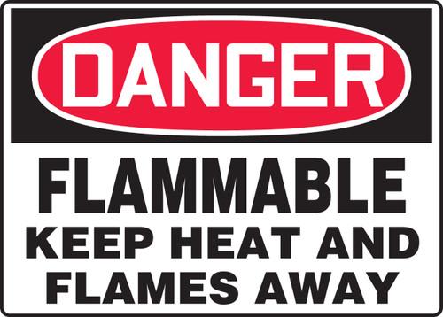 Danger - Flammable Keep Heat And Flames Away