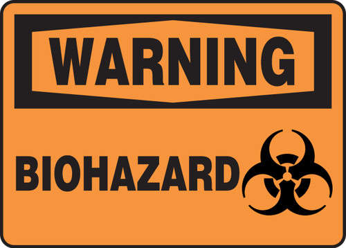 Warning - Biohazard (W/Graphic) - Plastic - 10'' X 14''