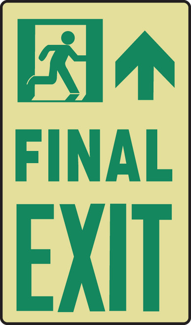 Final Exit Sign- Glow Sign- 11 in X 8 in