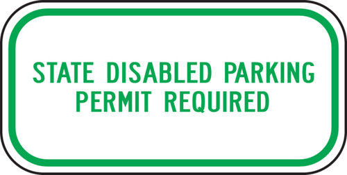(washington) State Disabled Parking Permit Required
