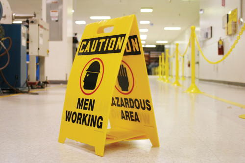 Caution Slippery Hazard / Caution Icy Conditions W/graphics