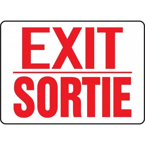 Exit / Sortie - Aluma-Lite - 10'' X 14''