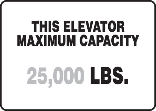 This Elevator Maximum Capacity ___ Lbs.