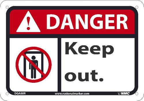 Danger - Keep Out - Plastic - 7'' X 10''