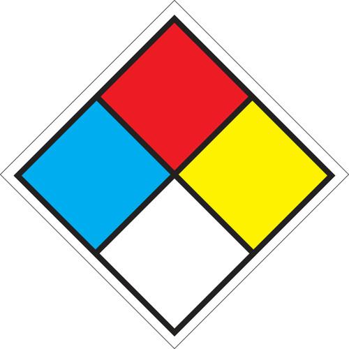 "4"" X 4"" Blank Placard (placard Kit Option - Shown)"