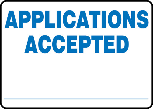Applications Accepted ___