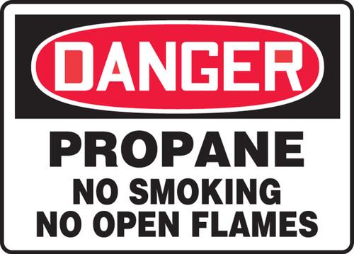 "Danger - Propane No Smoking No Open Flames - 7"" x 11"" - Safety Sign"