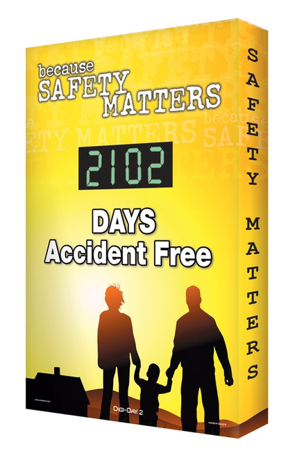 Digi Day 2 Electronic Safety Scoreboard Because Safety Matters  Accuform SCG102