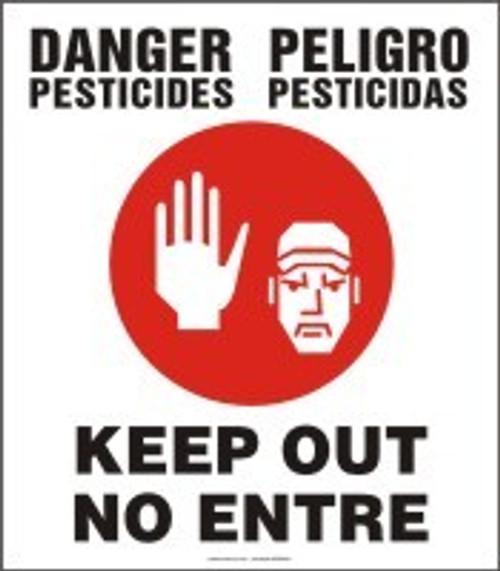Danger Pesticides Keep Out Sign- Bilingual Safety Sign