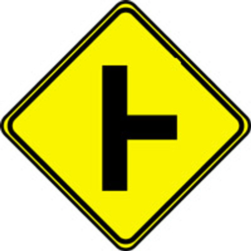 """Road Entering From Right Pictorial Traffic Sign- 24"""" x 24"""""""