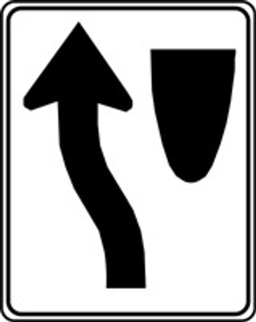 Keep Left Arrow Pictorial