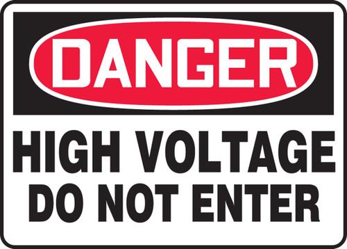 Danger - High Voltage Do Not Enter