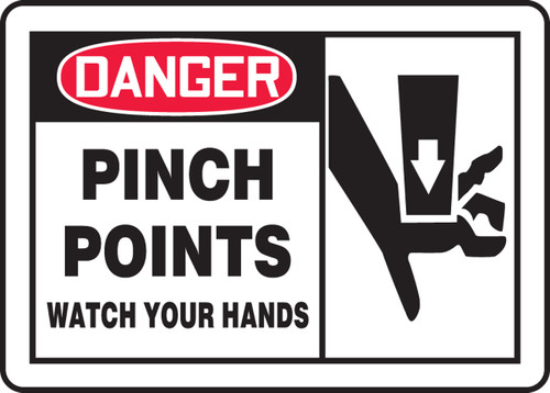 Danger - Pinch Points Watch Your Hands