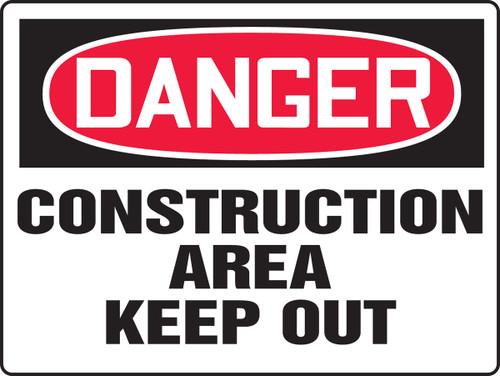 Danger - Construction Area Keep Out - .040 Aluminum - 18'' X 24''