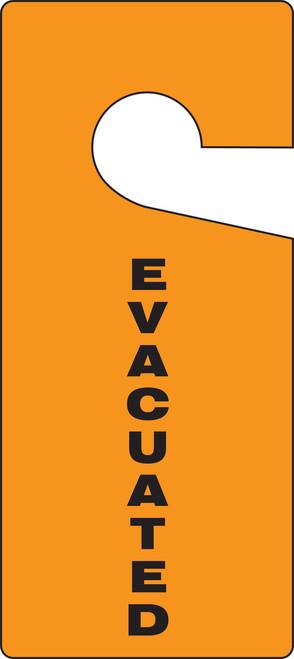 Evacuated Door Hanger Tag