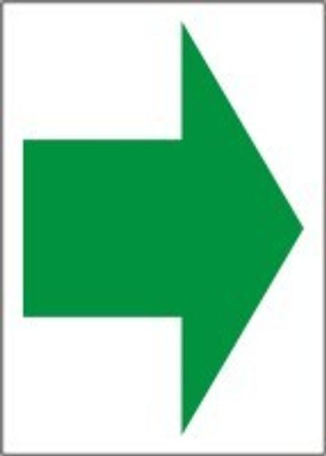 Arrow  Sign Green Arrow On White