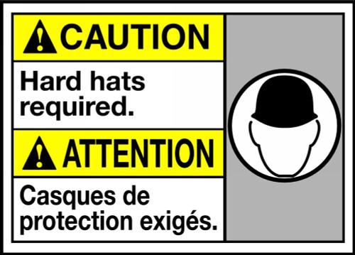 Caution Hard Hats Required (W/Graphic)