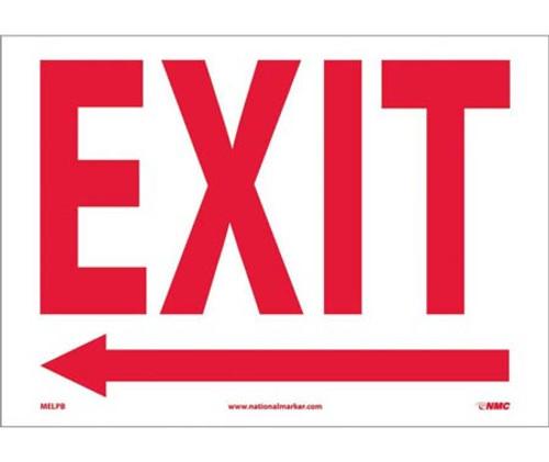 Exit (Arrow Left) - Adhesive Vinyl - 10'' X 14''