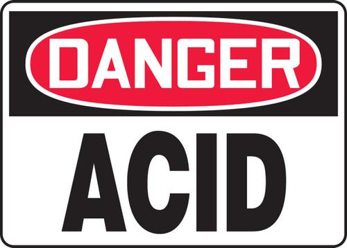 Danger - Acid - Dura-Fiberglass - 7'' X 10''