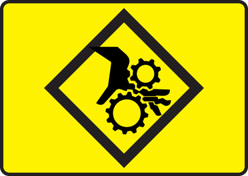 Pinch Point Symbol - Dura-Fiberglass - 7'' X 10''