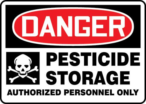 Danger - Pesticide Storage Authorized Personnel Only (W/Graphic) - Aluma-Lite - 7'' X 10''