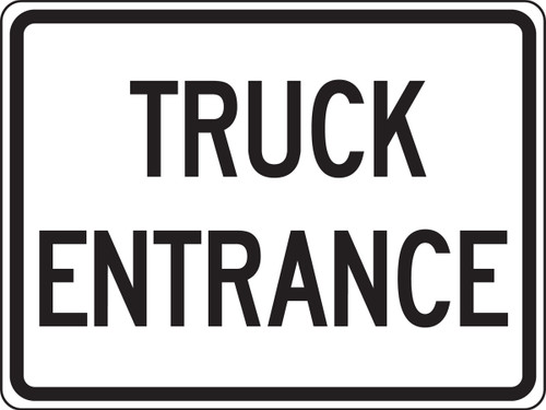 Truck Entrance Sign- Reflective