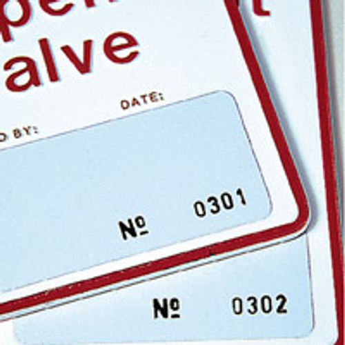 Sequentially Numbered Perma Tag Labels