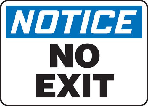 Exit / Sortie - .040 Aluminum - 10'' X 14''