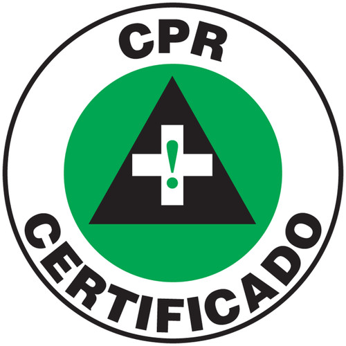 Cpr Certificado Label- Bilingual Hard Hat Label