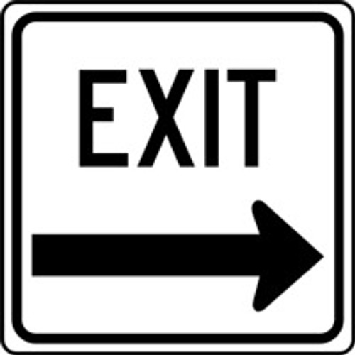 Exit Sign Black and White