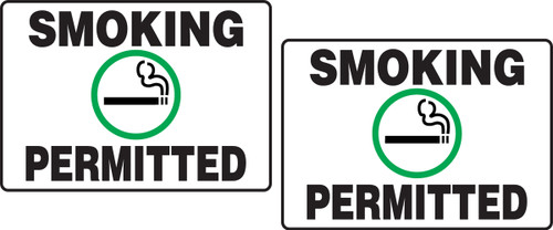 Smoking Permitted W/graphic Tabletop Sign