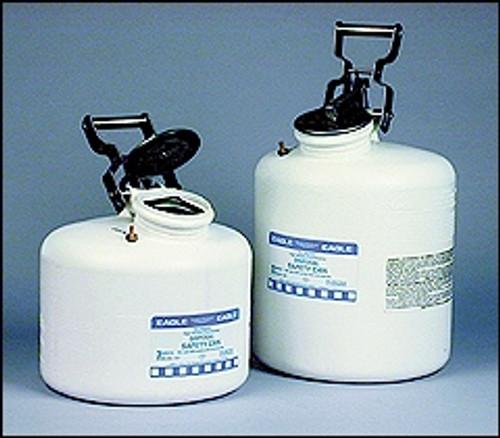 HDPE Disposal Safety Cans- 3 gal capacity | White High Density Polyethylene Waste Disposal