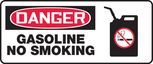 Danger - Gasoline No Smoking (W/Graphic) - Plastic - 7'' X 17''