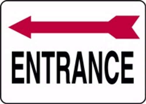 Entrance Sign- Arrow Left