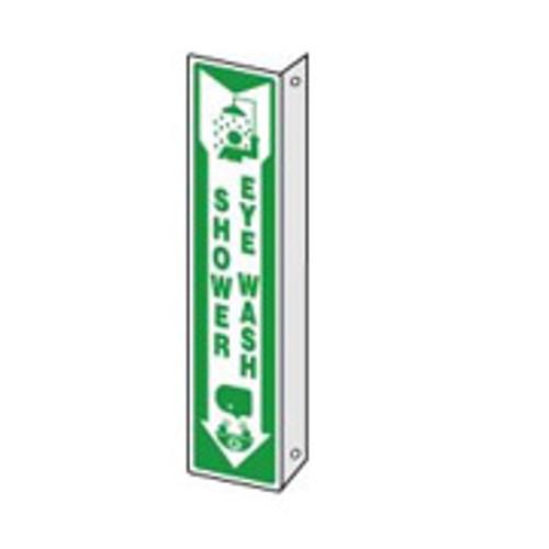 "Emergency Shower- Eyewash Sign 90D 18"" x 4"""
