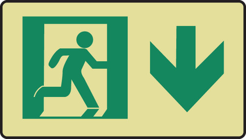 Graphic With Arrow Down Sign- Glow Sign